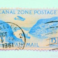 Sellos: SELLO POSTAL CANAL ZONE 1931 , 15 C , CORTE DE GAILLARD, USADO. Lote 150787526