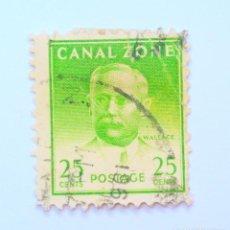 Sellos: SELLO POSTAL CANAL ZONE 1948 , 25 C , JOHN WALLACE, USADO. Lote 150789618