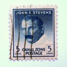 Sellos: SELLO POSTAL CANAL ZONE 1946 , 5 C , JOHN F.STEVENS, USADO. Lote 150791958