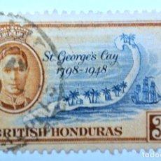 Sellos: SELLO POSTAL BRITISH HONDURAS 1949 , 3 C ,ST GEORGES CAY , USADO. Lote 150800710