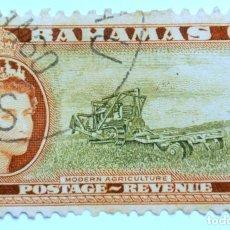 Sellos: SELLO POSTAL BAHAMAS 1954 , 1 D , AGRICULTURA MODERNA , USADO. Lote 150805670