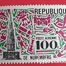 Sellos: CENTROAFRICANA. A 77 FERIA INTERNACIONAL DEL JUGUETE EN NUREMBERG. 1969SELLOS NUEVOS Y NUMERACIÓN YV. Lote 150714469