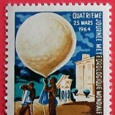 Sellos: COSTA DE MARFIL. 223 DÍA METEREOLÓGICO MUNDIAL: GLOBO. 1964. SELLOS NUEVOS Y NUMERACIÓN YVERT.. Lote 150714497