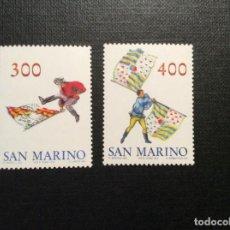 Sellos: FOLKLORE. SAN MARINO Nº YVERT 1092/3*** AÑO 1984 JUEGOS DE BANDERAS. Lote 151331010