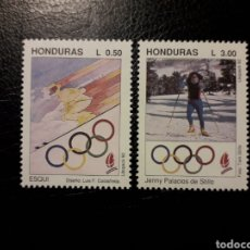 Sellos: HONDURAS. YVERT 279/80 SERIE COMPLETA NUEVA SIN CHARNELA. DEPORTES. OLIMPIADA ALBERTVILLE 92. ESQUÍ.. Lote 151566997