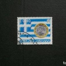 Sellos: VATICANO-2004-0,40 EUR Y&T 1350/º/-MONEDAS SOBRE SELLOS. Lote 151614206