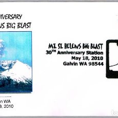 Sellos: MATASELLOS GEOLOGIA - VOLCANES - 30 ANIV. ERUPCION ST. HELENS. GALVIN WA, ESTADOS UNIDOS, 2010. Lote 151626642