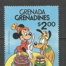 Sellos: GRENADA GRENADINES WALT DISNEY ANIVERSARIO DE PLUTO YVERT NUM. 378 ** SERIE COMPLETA SIN FIJASELLOS. Lote 151738174