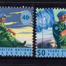 Sellos: NACIONES UNIDAS NEW YORK 771/22** - AÑO 1998 - 50 AÑOS DEL CUERPO DE PAZ. Lote 151818826