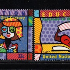 Sellos: NACIONES UNIDAS NEW YORK 812/13** - AÑO 1999 - LA EDUCACION. Lote 151820354