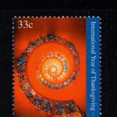 Sellos: NACIONES UNIDAS NEW YORK 814** - AÑO 2000 - AÑO INTERNACIONAL DE ACCION DE GRACIAS. Lote 151821982