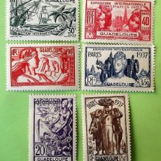 Sellos: GUADALUPE. 133/38 EXPOSICIÓN INTERNACIONAL DE PARÍS. TIPOS DE AFRICA ECUATORIAL. 1937. SELLOS NUEVOS. Lote 151960558