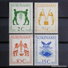 Sellos: SURINAM 1955 * FIJASELLOS * MH * ASOCIACIÓN TURÍSTICA DEL CARIBE. Lote 154179174