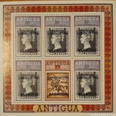 Sellos: HOJA BLOQUE ANTIGUA Y BARBUDA 1980. Lote 154429081