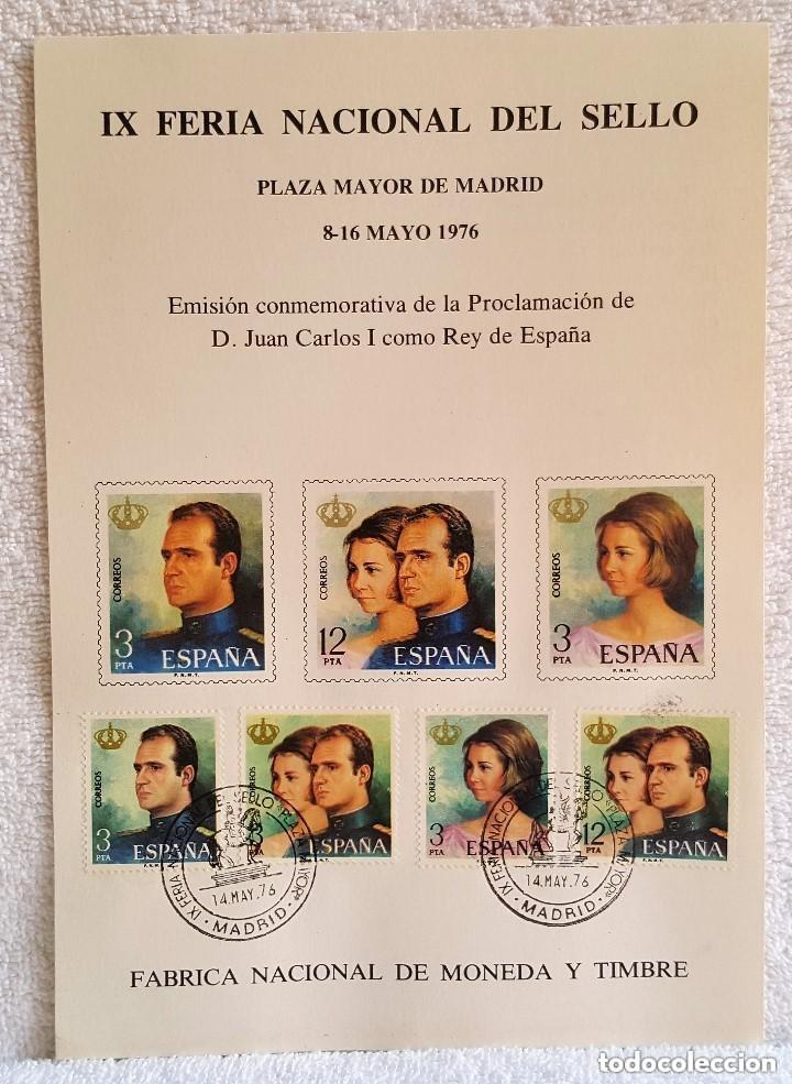 HOJA IX FERIA NACIONAL DEL SELLO - MADRID 8-16 DE MAYO 1976 - EMISIÓN CONMEMORATIVA (Sellos - Temáticas - Varias)