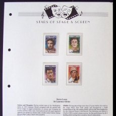 Sellos: SIERRA LEONA SELLOS DEL FAMOSO ACTOR BRITANICO SIR LAWRENCE OLIVIER- CINE . Lote 155616346