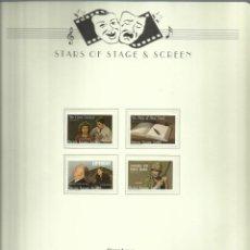 Sellos: SIERRA LEONA LOTE DE SELLOS ACTORES CLASICOS JOHN WAYNE- HITCHCOCK- EL DIARIO DE ANA FRANK- CHAPLIN . Lote 155617826