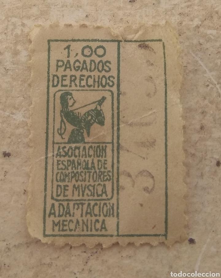 ANTIGUO SELLO FISCAL DE LA ASOCIACIÓN ESPAÑOLA DE COMPOSITORES DE MÚSICA - RARO - (Sellos - Temáticas - Varias)