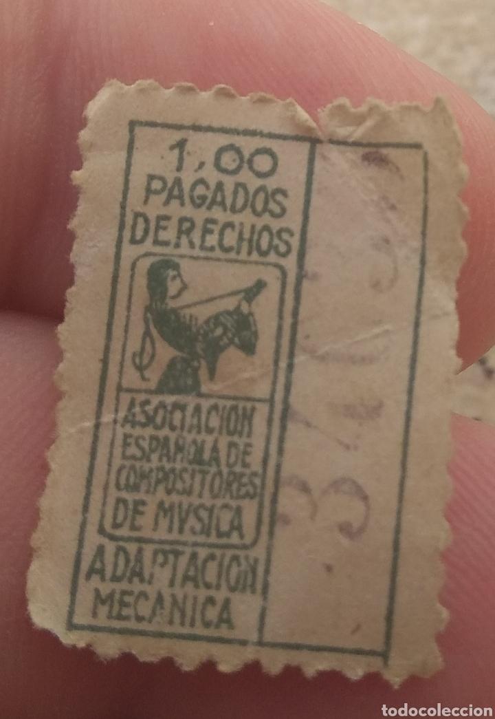 Sellos: Antiguo Sello Fiscal de La Asociación Española de Compositores de Música - Raro - - Foto 4 - 155796814