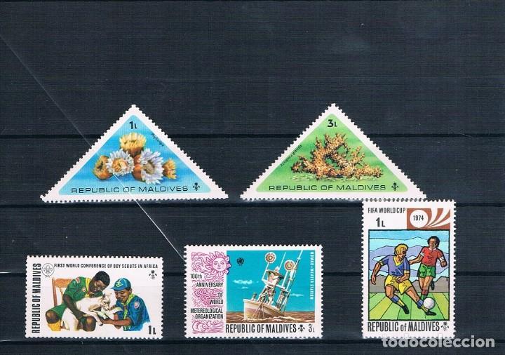 LOTE SELLOS ISLAS MALDIVAS (Sellos - Extranjero - América - Otros paises)