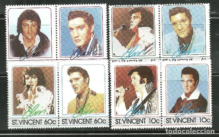 SAN VICENTE 1985 IVERT 870/7 *** HOMENAJE AL CANTANTE ELVIS PRESLEY - MÚSICA ROCK (Sellos - Extranjero - América - Otros paises)