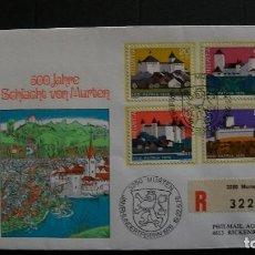 Sellos: ARQUITECTURA-CASTILLOS-SUIZA-1976-SPD-Y&T 1026/9-COMO USADO-A 10%. Lote 156746718