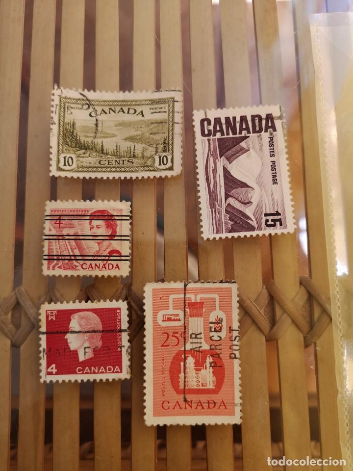 Sellos: LOTE DE SELLOS ANTIGUOS DE CANADA ,NO SE DESCOMPLETA EL LOTE - Foto 2 - 158669206