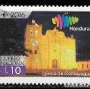 Sellos: HONDURAS 2016. TURISMO. IGLESIA COMAYAGUA. Lote 158947374
