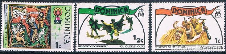 DOMINICA 1977 / 78 - YVERT 531 + 545 + 546 ( ** ) (Sellos - Extranjero - América - Otros paises)