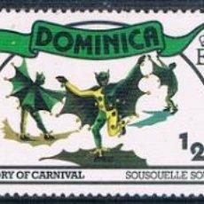 Sellos: DOMINICA 1977 / 78 - YVERT 531 + 545 + 546 ( ** ). Lote 159205402