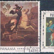 Sellos: PANAMA 1967 - YVERT 412 + 422 + 438 AEREOS ( USADOS ). Lote 160157642