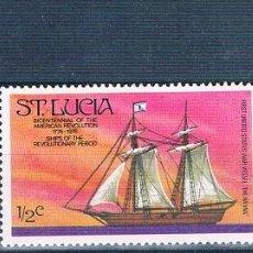 Sellos: SANTA LUCIA 1976 / - YVERT 378 + 415 + 425 ( ** ). Lote 160267630