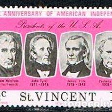 Stamps - San Vicente nº 424, Bicentenario de la Independencia de los Estados Unidos (presidentes), nuevo *** - 160479774