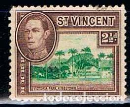 SAN VICENTE Nº 135, REY JORGE VI Y VISTAS LOCALES, NUEVO *** (Sellos - Extranjero - América - Otros paises)