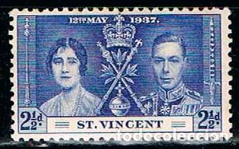 SAN VICENTE Nº 129, CORONACION DE JORGE VI E ISABEL II (AÑO 1937), NUEVO *** (Sellos - Extranjero - América - Otros paises)