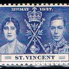 Sellos: SAN VICENTE Nº 129, CORONACION DE JORGE VI E ISABEL II (AÑO 1937), NUEVO ***. Lote 160480586