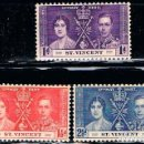 Sellos: SAN VICENTE Nº 127/9, CORONACION DE JORGE VI E ISABEL II (AÑO 1937), NUEVO *** (SERIE COMPLETA). Lote 160480618
