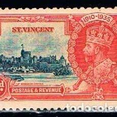 Sellos: SAN VICENTE Nº 123, 25 ANIVERSARIO DEL REINADO DE JORGE V, (AÑO 1935), NUEVO SIN GOMA. Lote 160480738