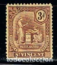 SAN VICENTE Nº 82, SERIE BÁSICA, (AÑO 1909), NUEVO CON SEÑAL DE CHARNELA (Sellos - Extranjero - América - Otros paises)