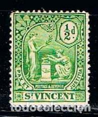 SAN VICENTE Nº 85, SERIE BÁSICA, (AÑO 1909), NUEVO CON SEÑAL DE CHARNELA (Sellos - Extranjero - América - Otros paises)