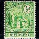 Sellos: SAN VICENTE Nº 85, SERIE BÁSICA, (AÑO 1909), NUEVO CON SEÑAL DE CHARNELA. Lote 160480994