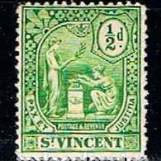 Sellos - San Vicente nº 85, serie básica, (año 1909), nuevo con señal de charnela - 160480994