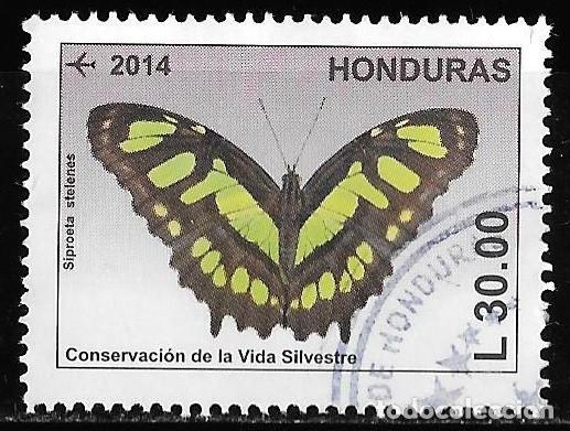 HONDURAS 2014. CONSERVACIÓN DE LA NATURALEZA. MARIPOSAS. 30L (Stamps - International - America - Other countries)