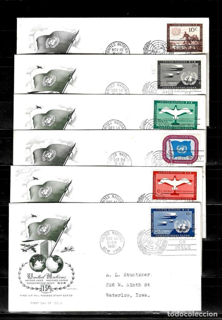 NACIONES UNIDAS 1951 OFICINA DE NUEVA YORK LOTE DE 12 SOBRES PRIMER DIA (Sellos - Extranjero - América - Otros paises)