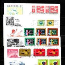 Sellos: NACIONES UNIDAS 1964-65 LOTE DE 6 SOBRES PRIMER DIA DIRIGIDOS A CALDAS COLOMBIA . Lote 160980266