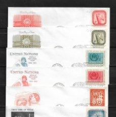 Sellos: NACIONES UNIDAS OFICINA DE NUEVA YORK 1957-1960 LOTE DE 23 SOBRES PRIMER DIA DIRIGIDOS A ETON COLLEG. Lote 160980570