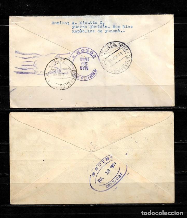 Sellos: Panama lote de 2 cartas circuladas a Colombia - Foto 2 - 160981190