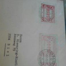 Sellos: CARTA CIRCULADA DE SUIZA CON SELLO ETIQUETA. Lote 163837492