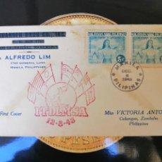 Sellos: MANILA FILIPINAS SOBRE CONMEMORACIÓN 1943. Lote 164897990