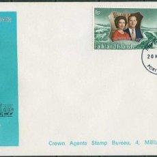 Timbres: ISLAS MALVINAS 1972 - 2 SPD - BODA REAL DE PLATA. Lote 165460342